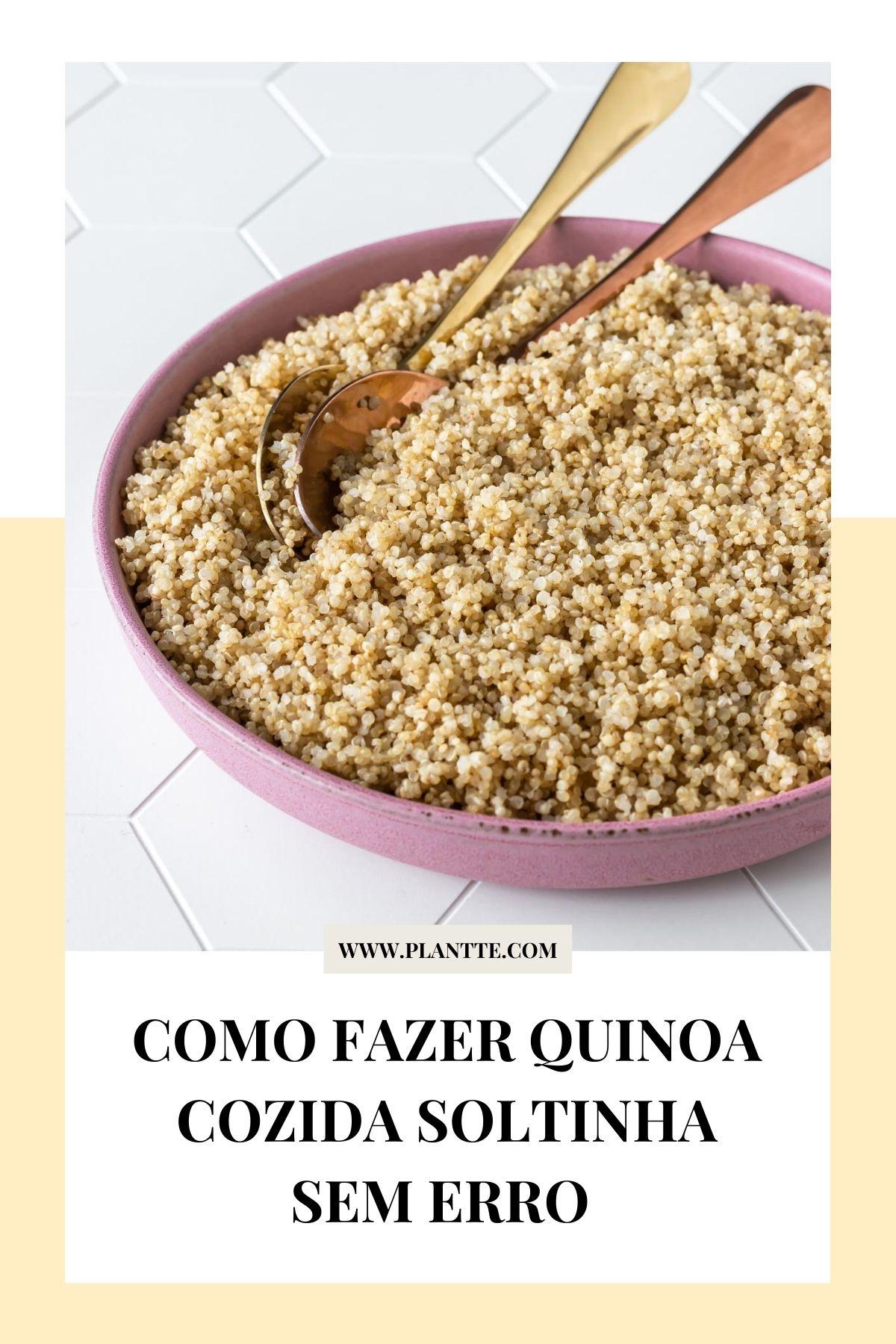 quinoa cozida servida em um prato